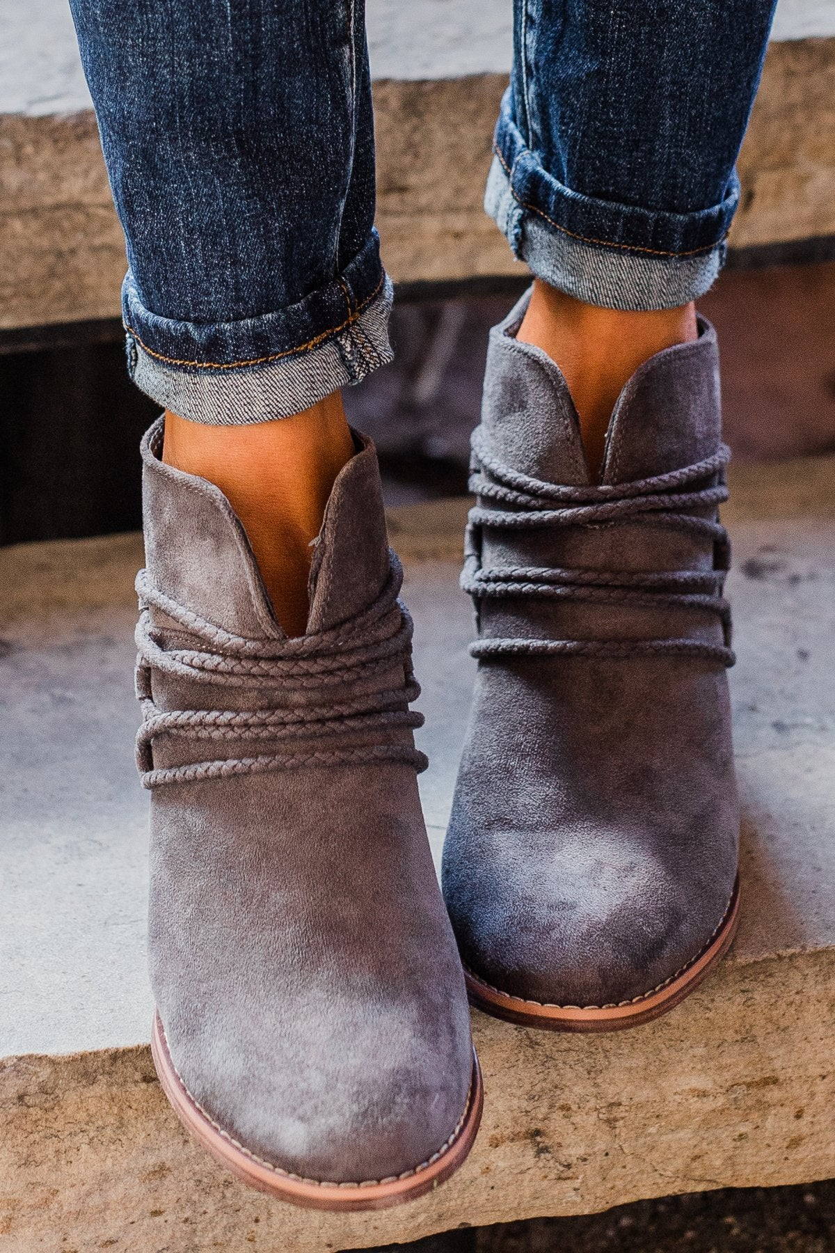 Very G Havana Booties- Grey