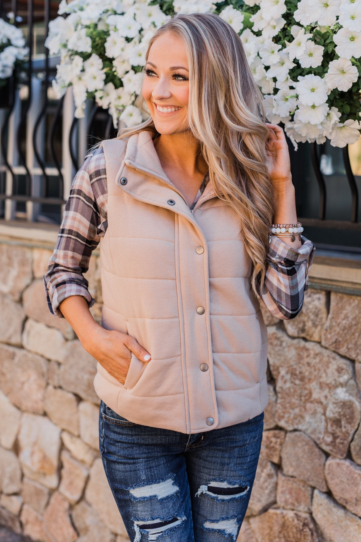 The Perfect Puffer Vest- Khaki