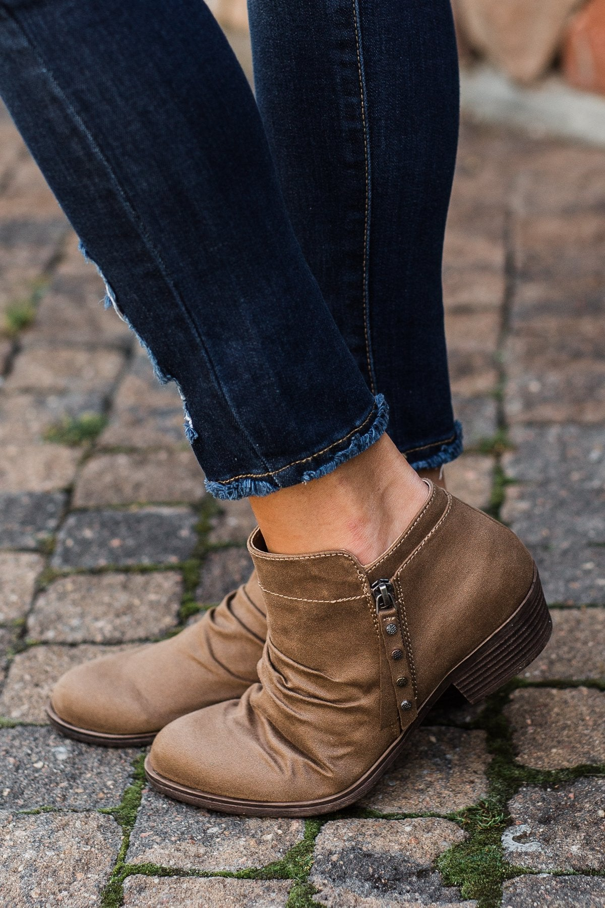 Rampage Wallace Booties- Taupe