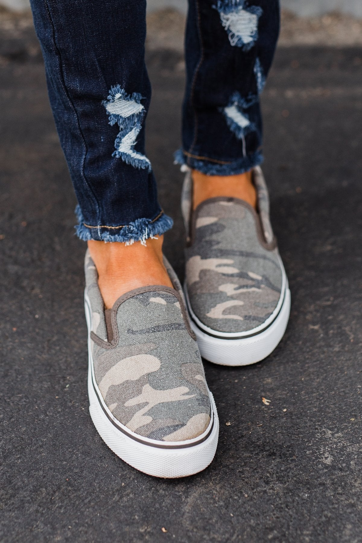 Sugar Flicker Shoes- Washed Camo