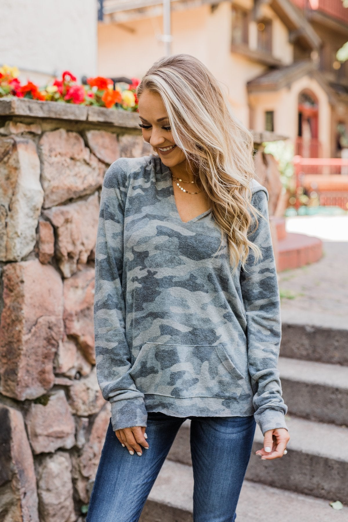 Cozy On The Couch Hoodie- Camo