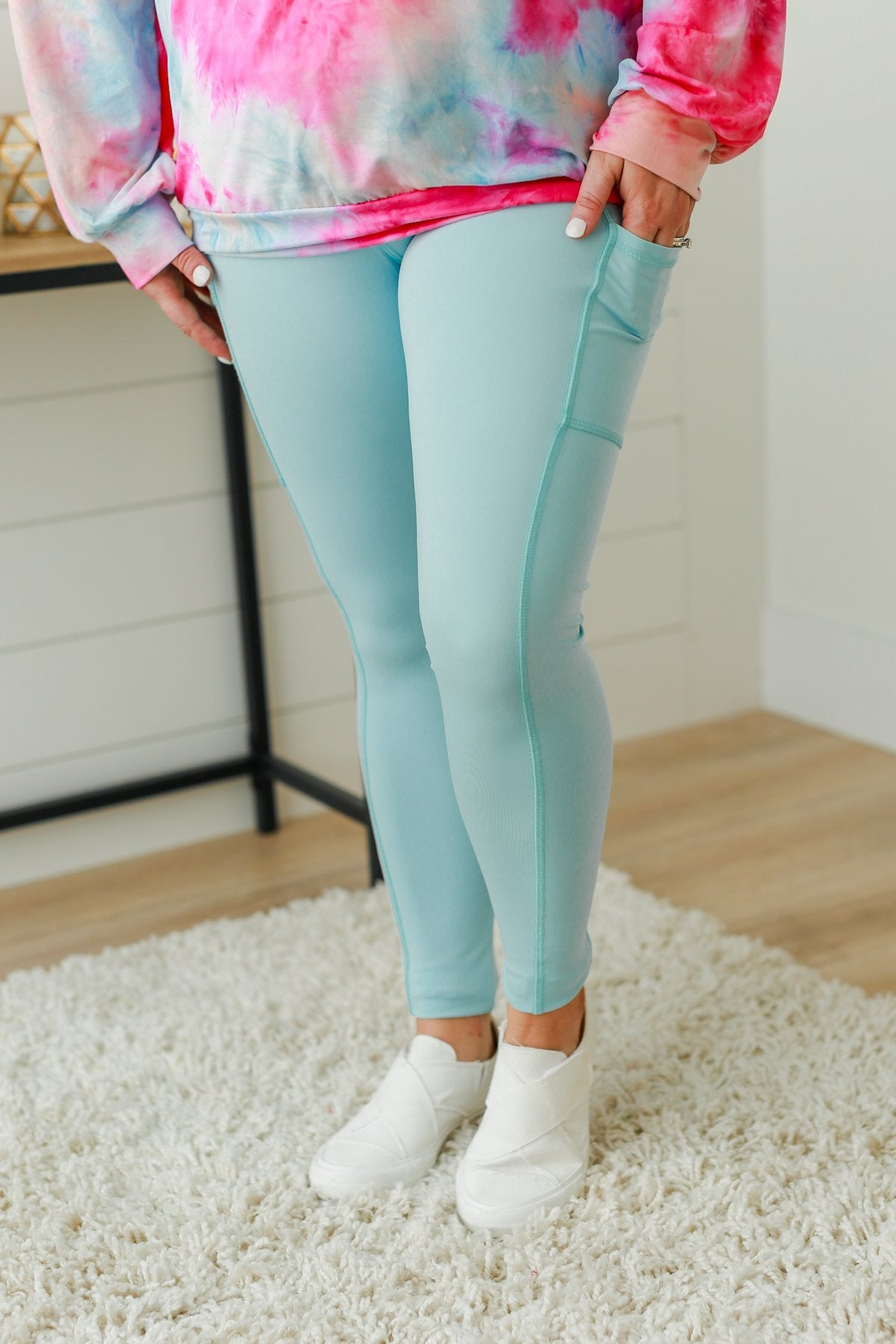 Pulse Basics Athleisure Leggings- Sky Blue