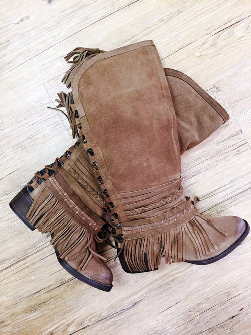 Naughty Monkey Zarape Boots ~ Tan