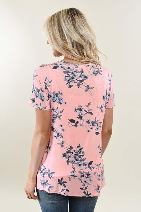 Feel the Rhythm Floral Top ~ Pink