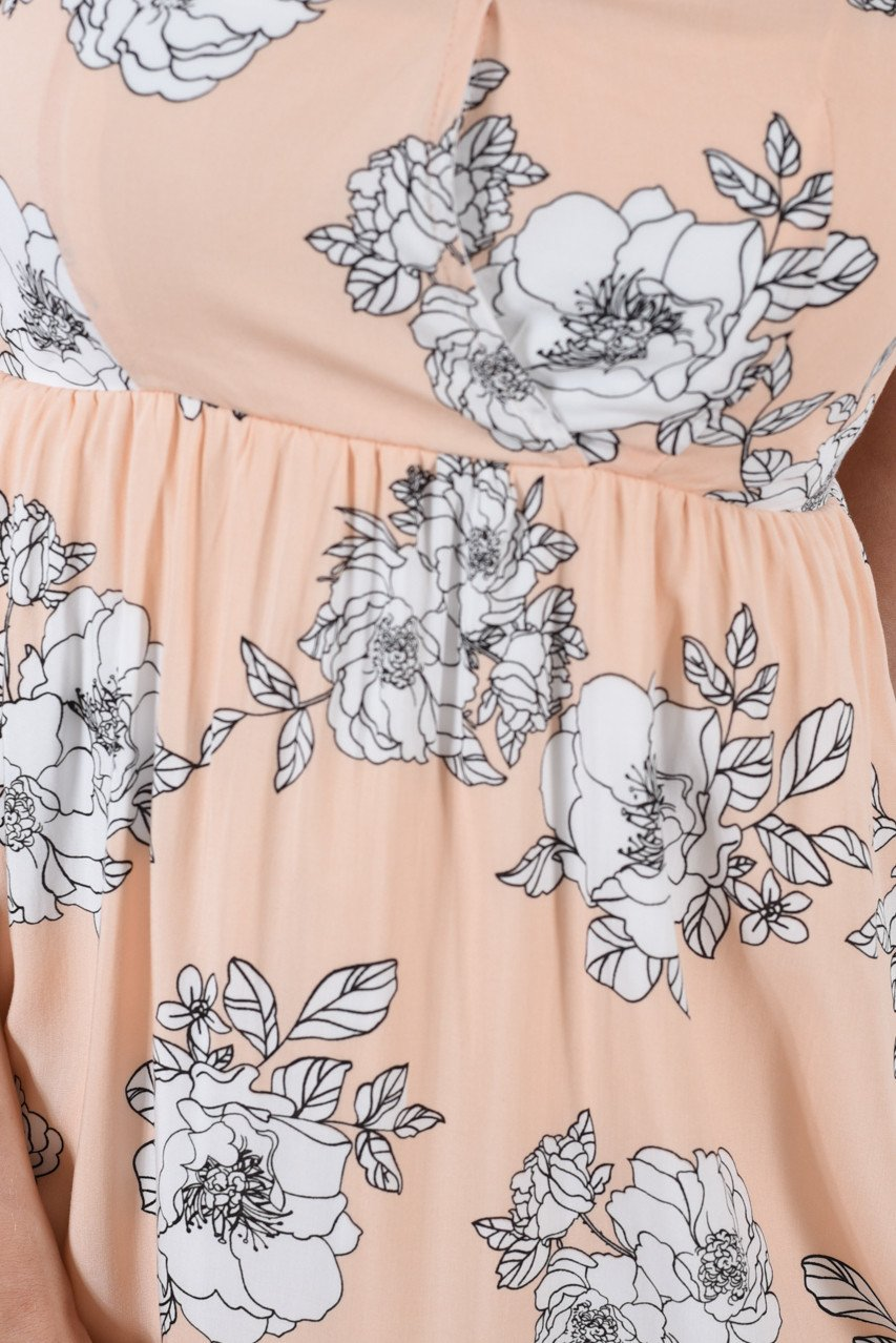 Blush & Bashful Apricot Dress