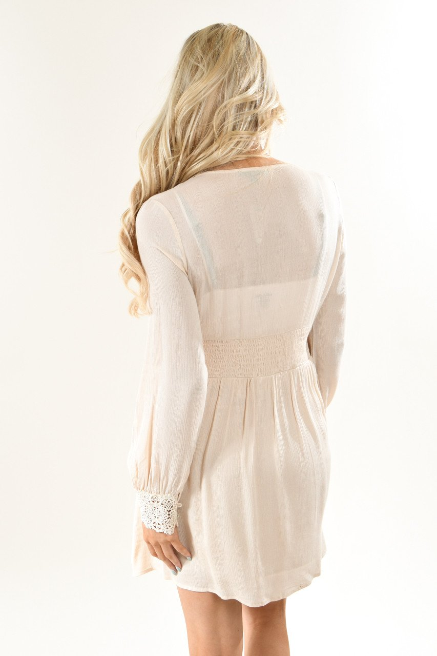Now or Never Cream Dress
