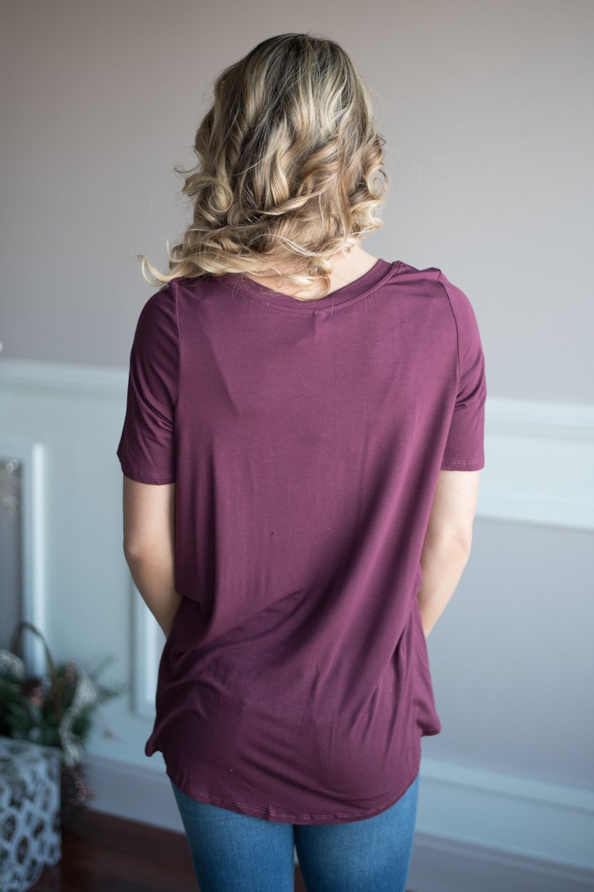 All Twisted Up Top ~ Plum