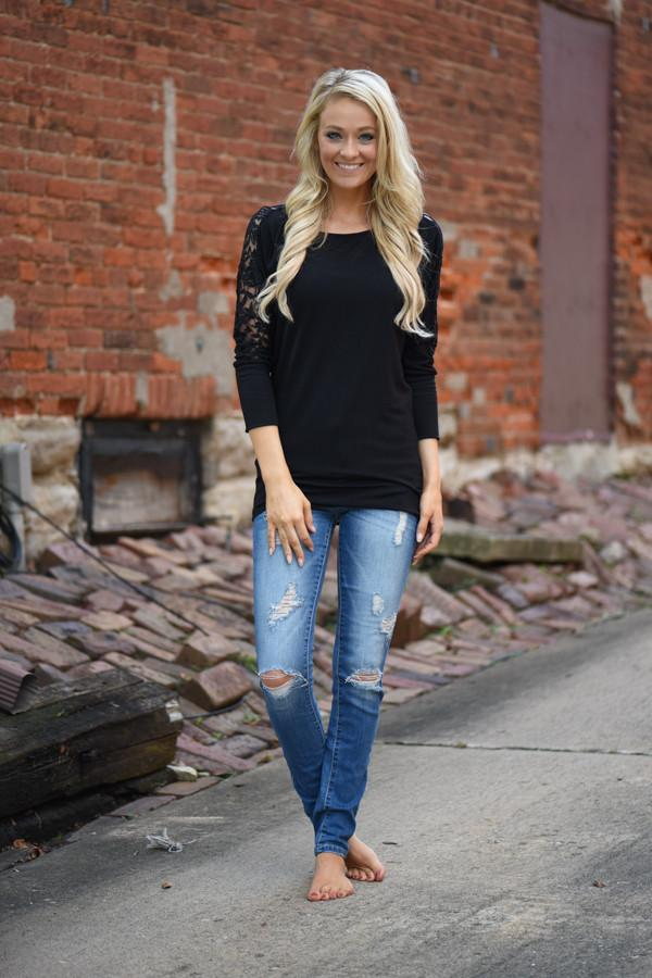 America's Sweetheart Lace Top ~ Black