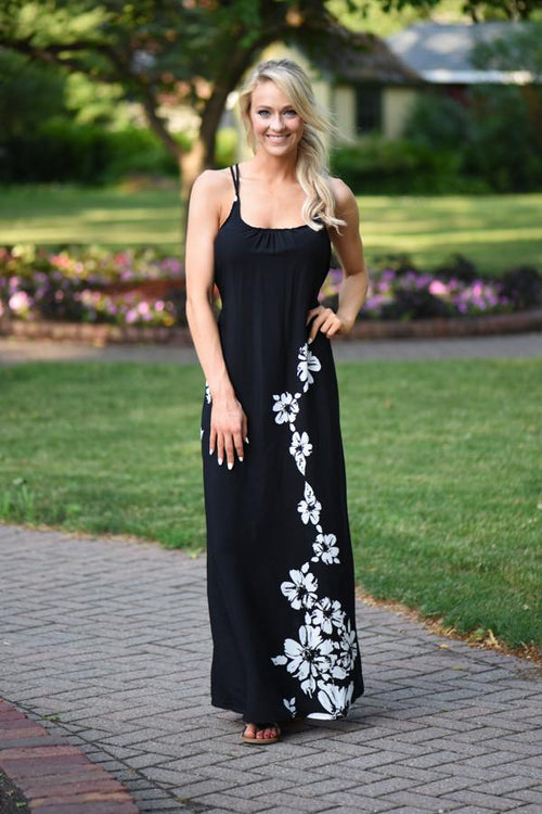 Lovestitch Floral Maxi Dress ~ Black