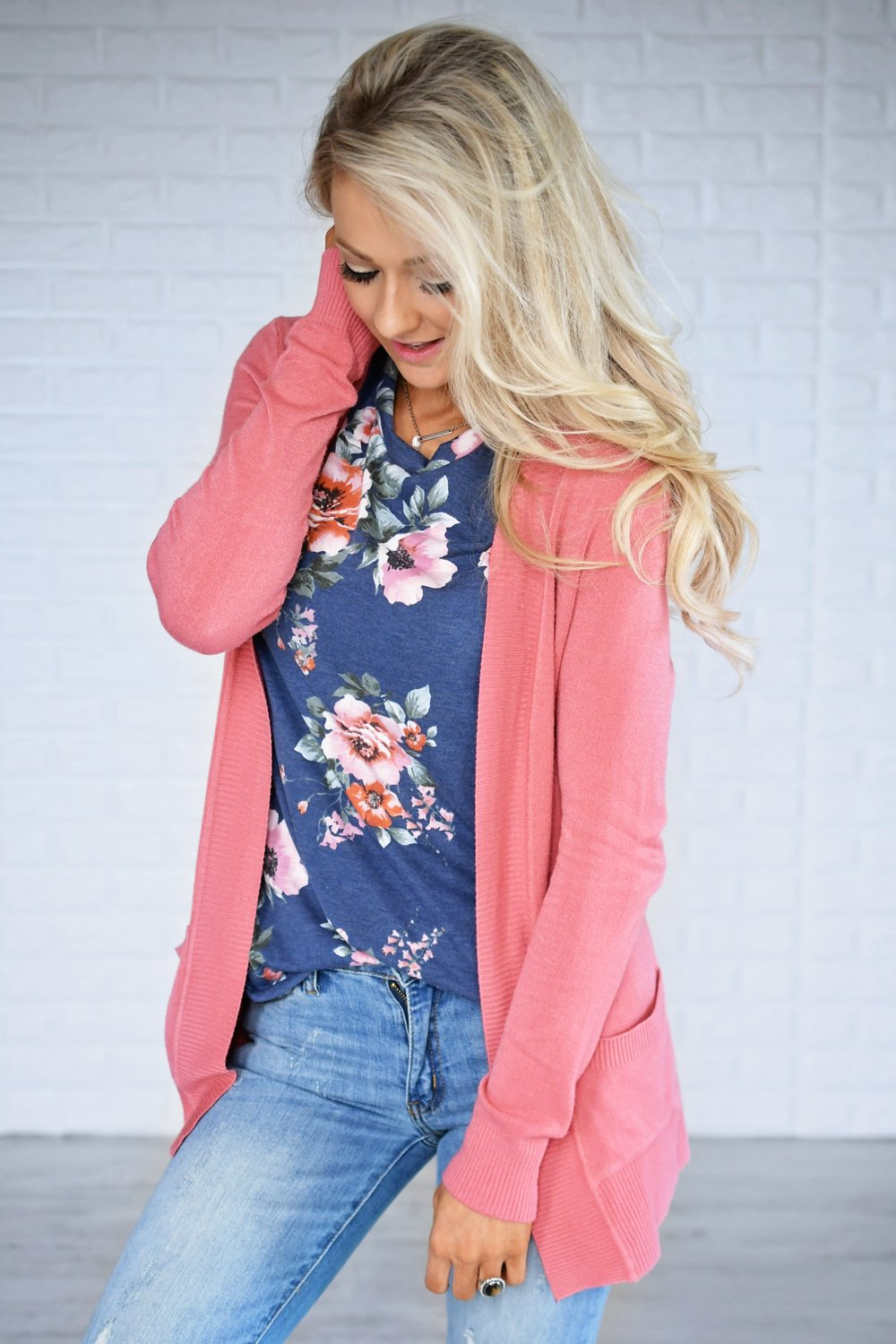 The Fundamental Cardigan ~ Deep Blush