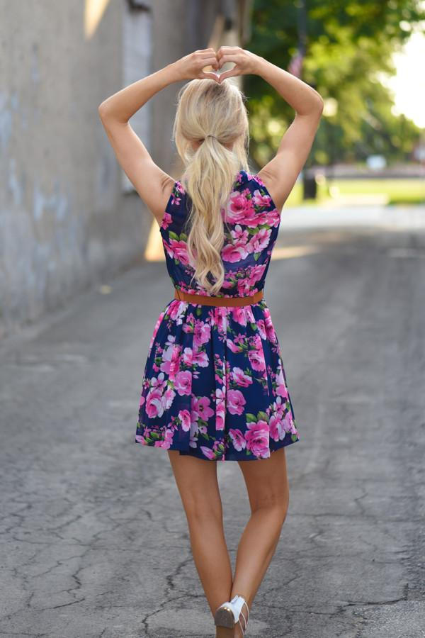 Sleeveless Floral Dress