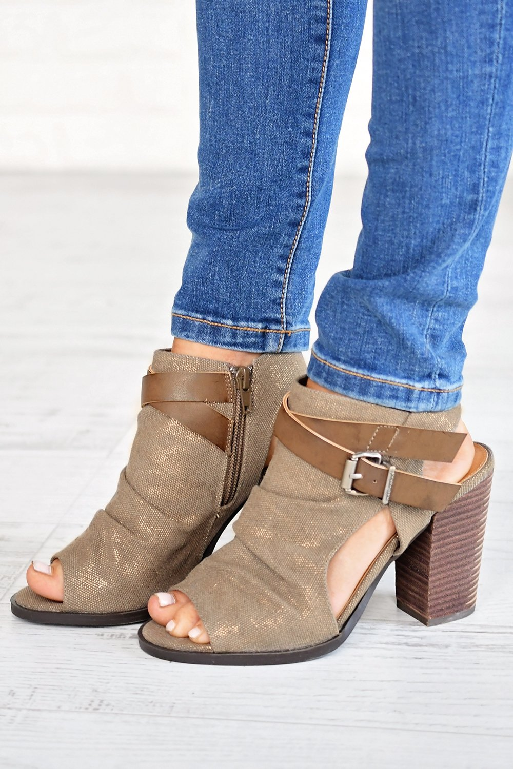 Meson Booties ~ Taupe