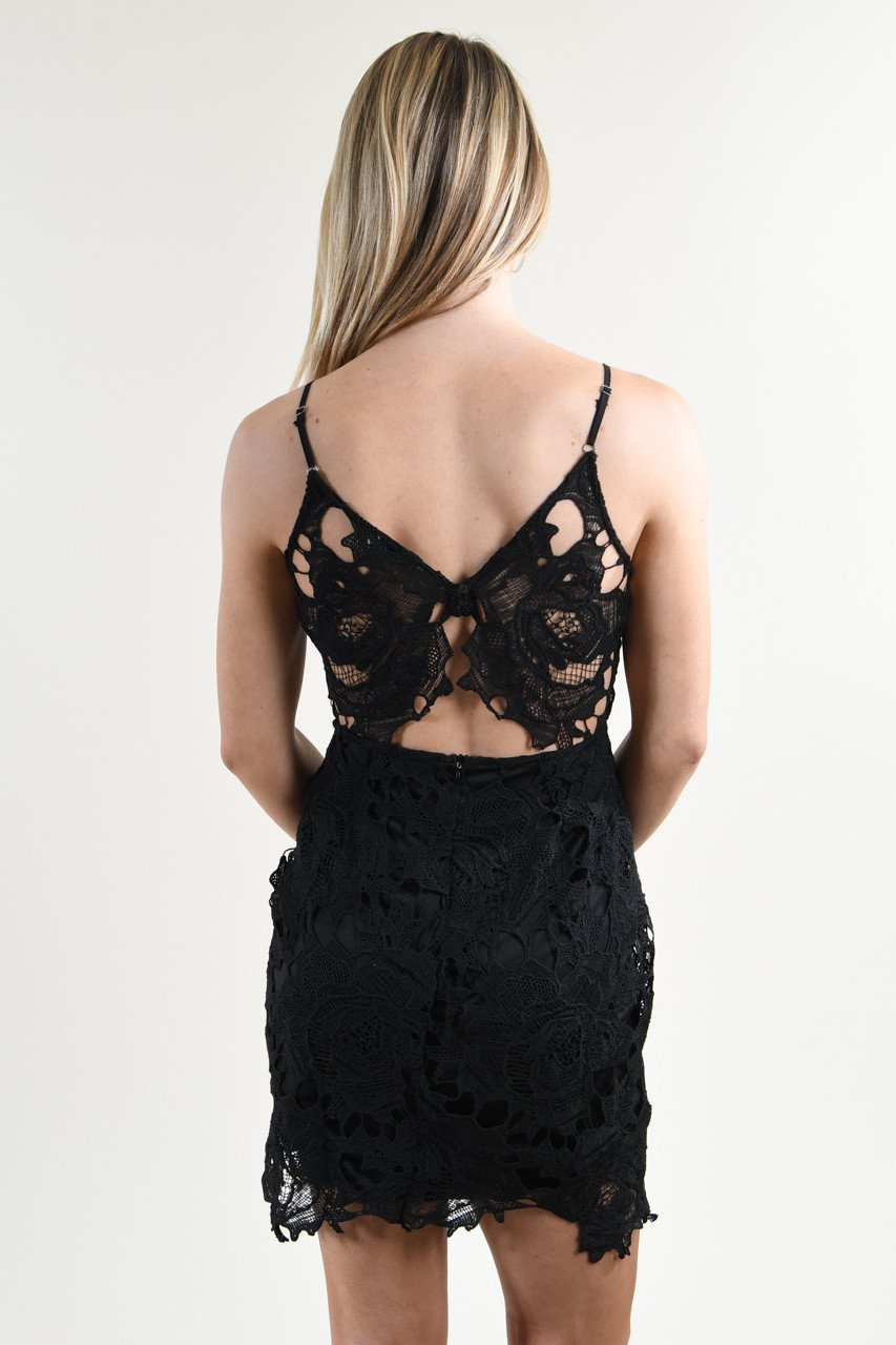 Butterfly Back Lace Dress