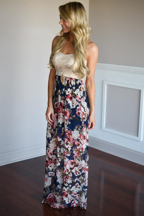 The Perfect Balance Maxi ~ Navy