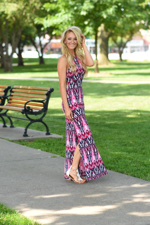 Sassy & Sleek Maxi Dress