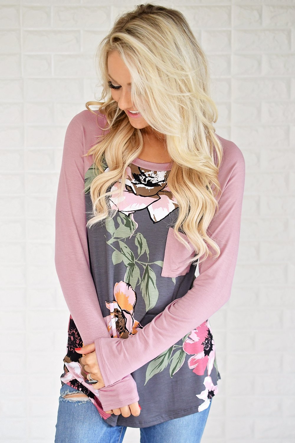 Forever in Floral Pocket Top