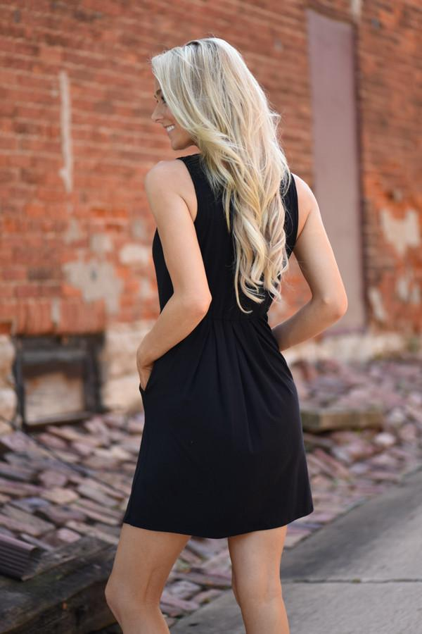 Easy Does it Black Dress