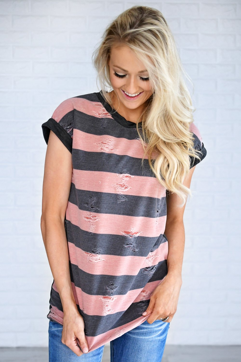 Love and Stripes Top