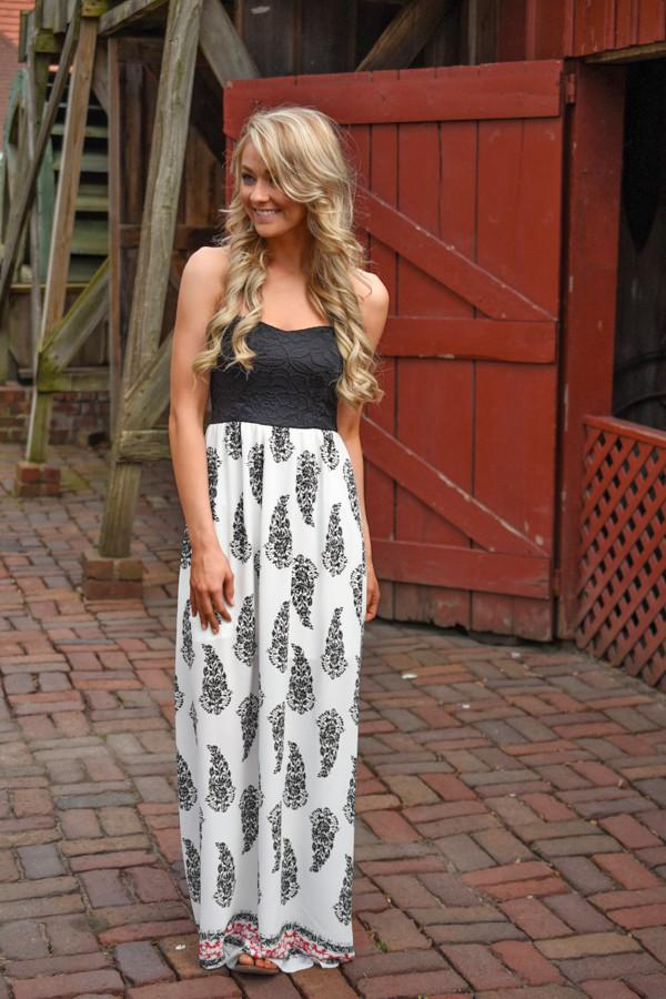 Black Feather Maxi