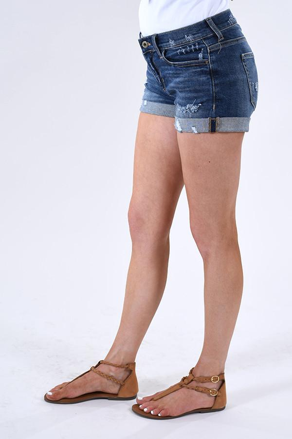 Sneak Peek Distressed Cuffed Shorts