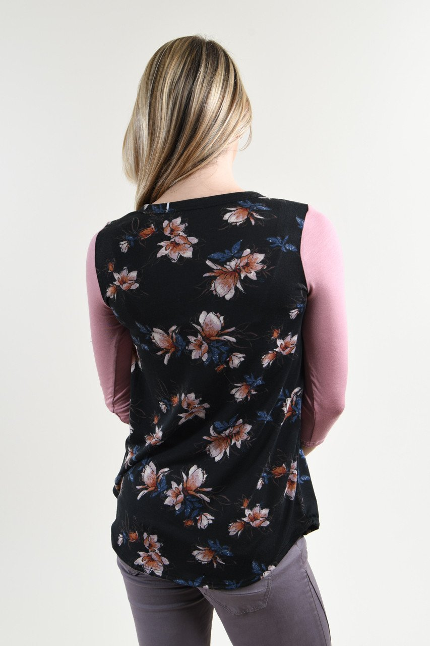 Just a Tease Floral Top