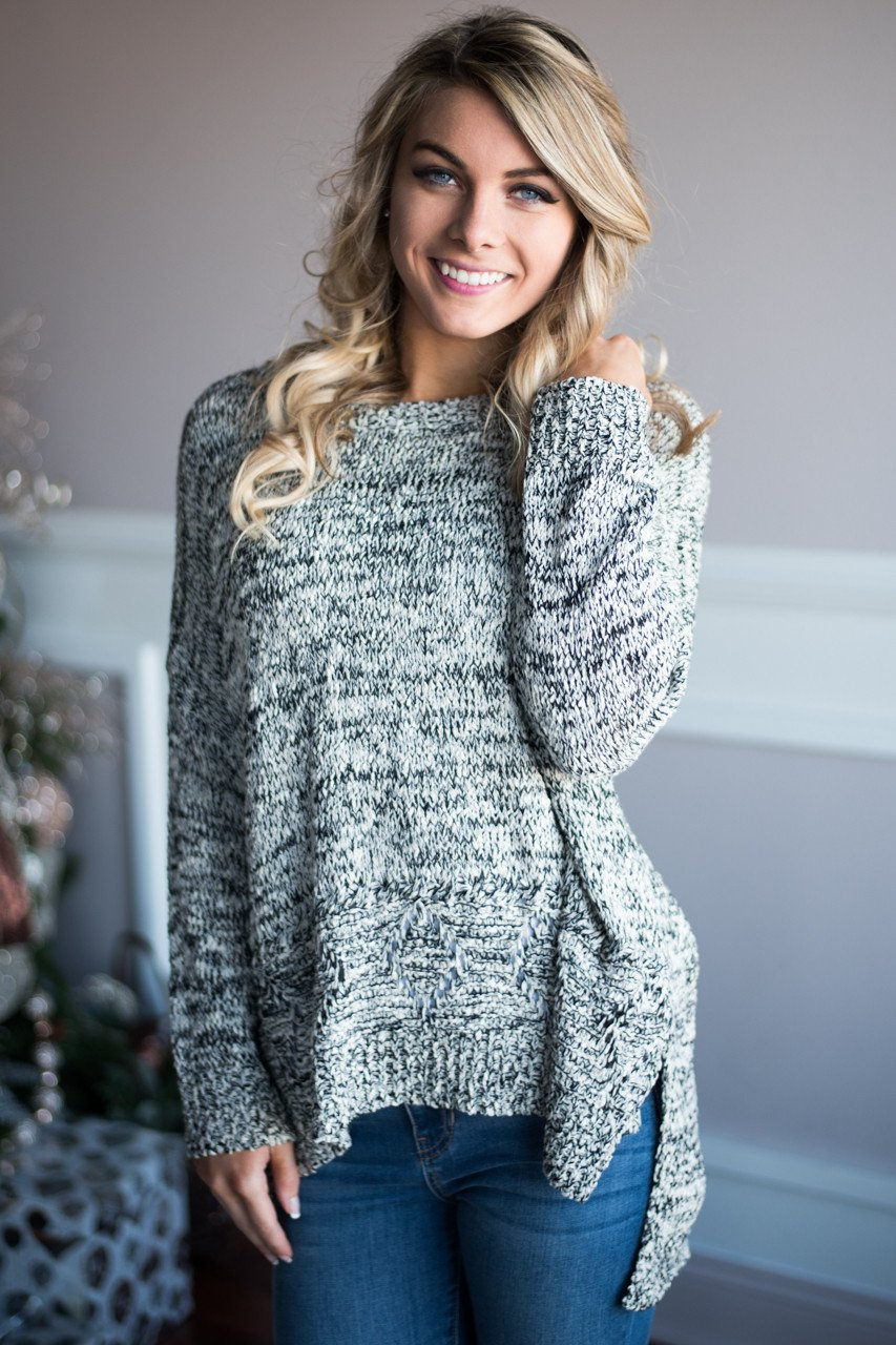 Black Speckled Sweater