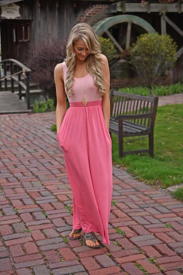 Whisper in the Wind Maxi ~ Pink