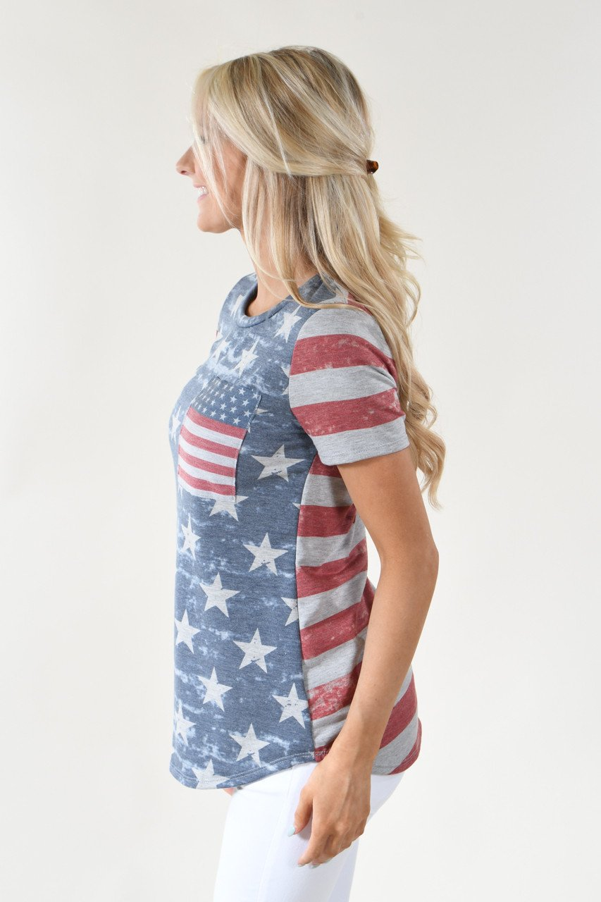 Stars & Stripes Pocket Top