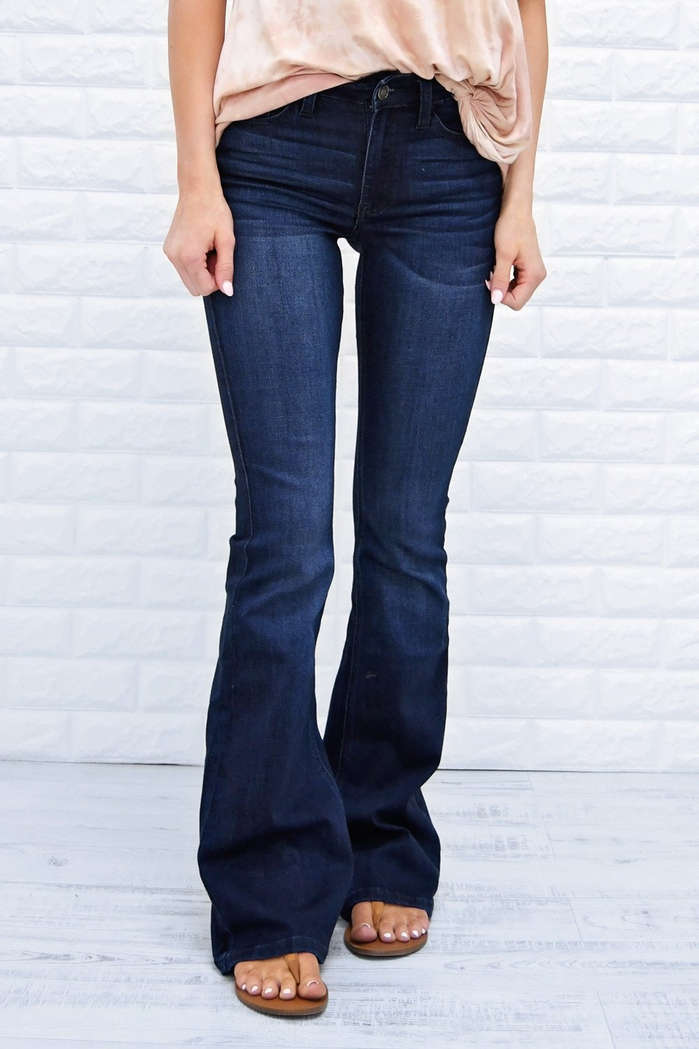 0ba8649bc71 Must Have Dark Flare Jeans - Kan Can – The Pulse Boutique