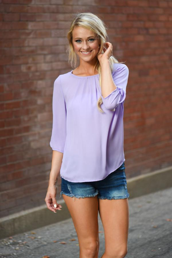 Light Lilac Sheer Top