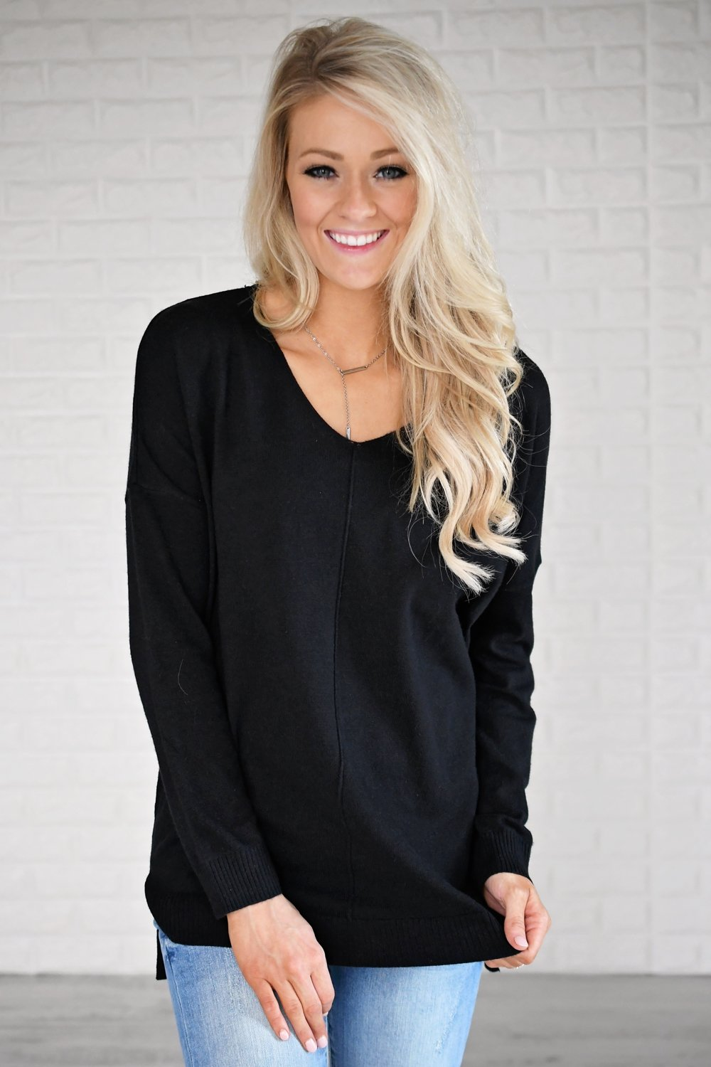 You Make My Dreams Sweater Top ~ Black