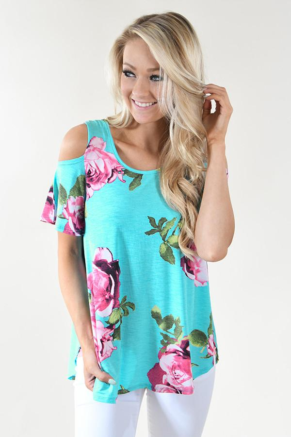 Shine Bright - Teal Floral