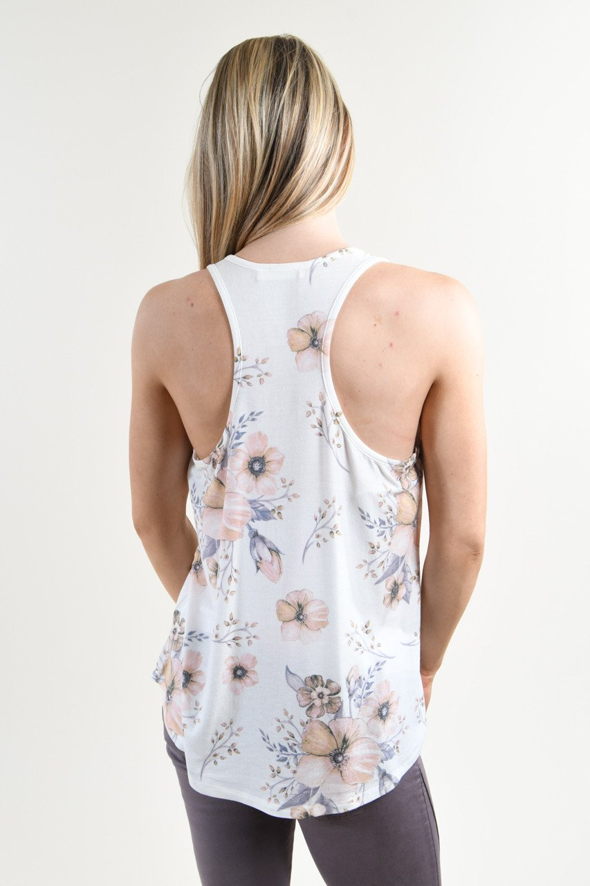 Catch a Feeling Floral Tank Top