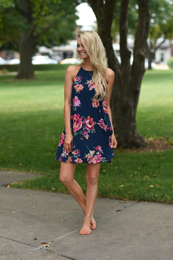 Beautiful Distraction Dress ~ Navy