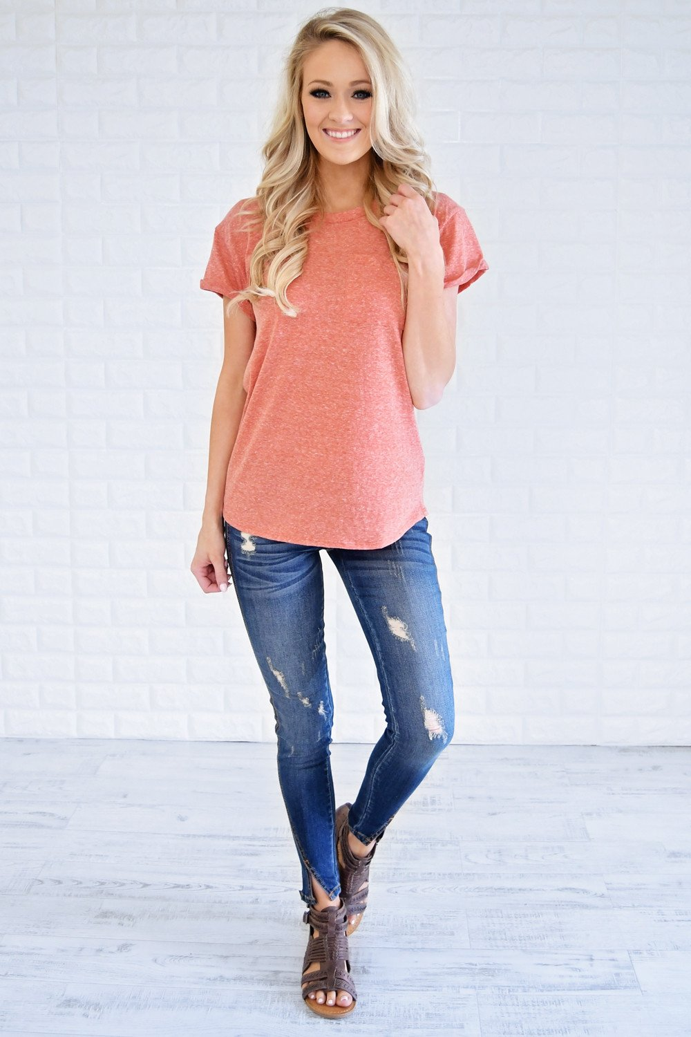 Hometown Girl Pocket Top