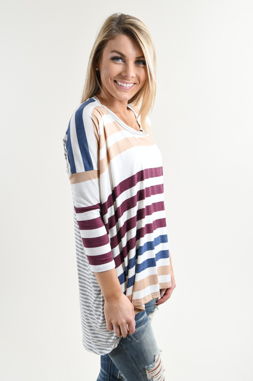 Color My World Striped Top