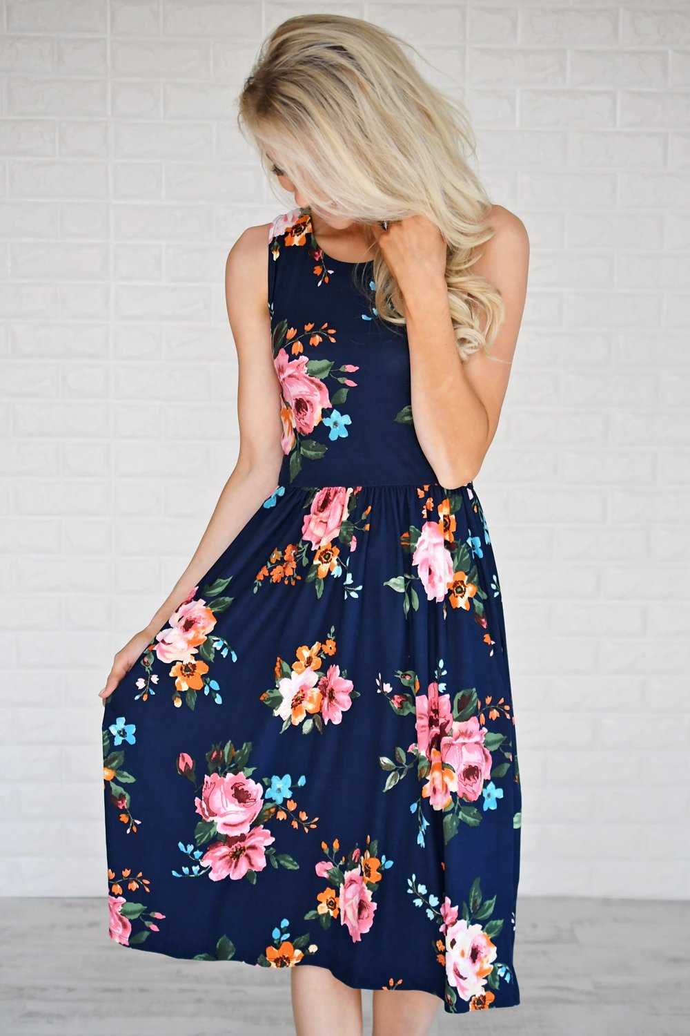 Floral My Heart Midi Dress