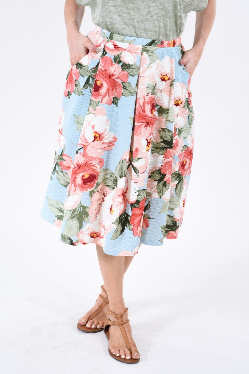 Keeping Up with Cute Floral Skirt