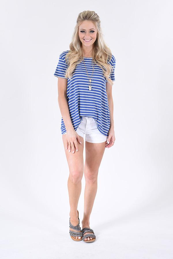 Going to the Navy Striped Top