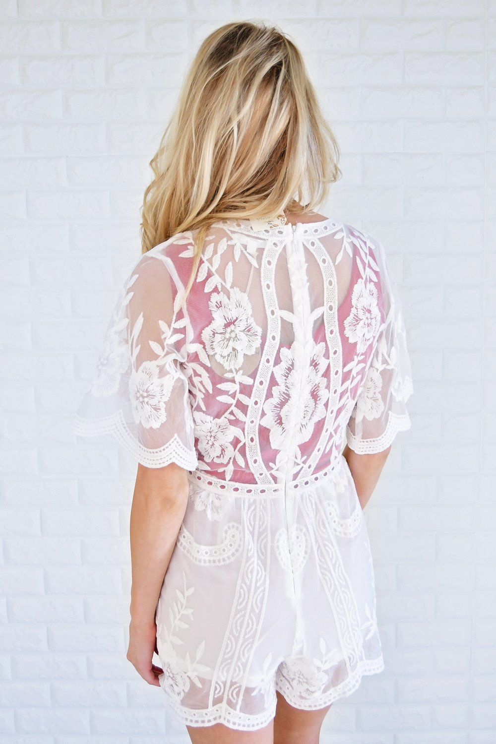 Soon to be Mrs. ~ Lace Romper