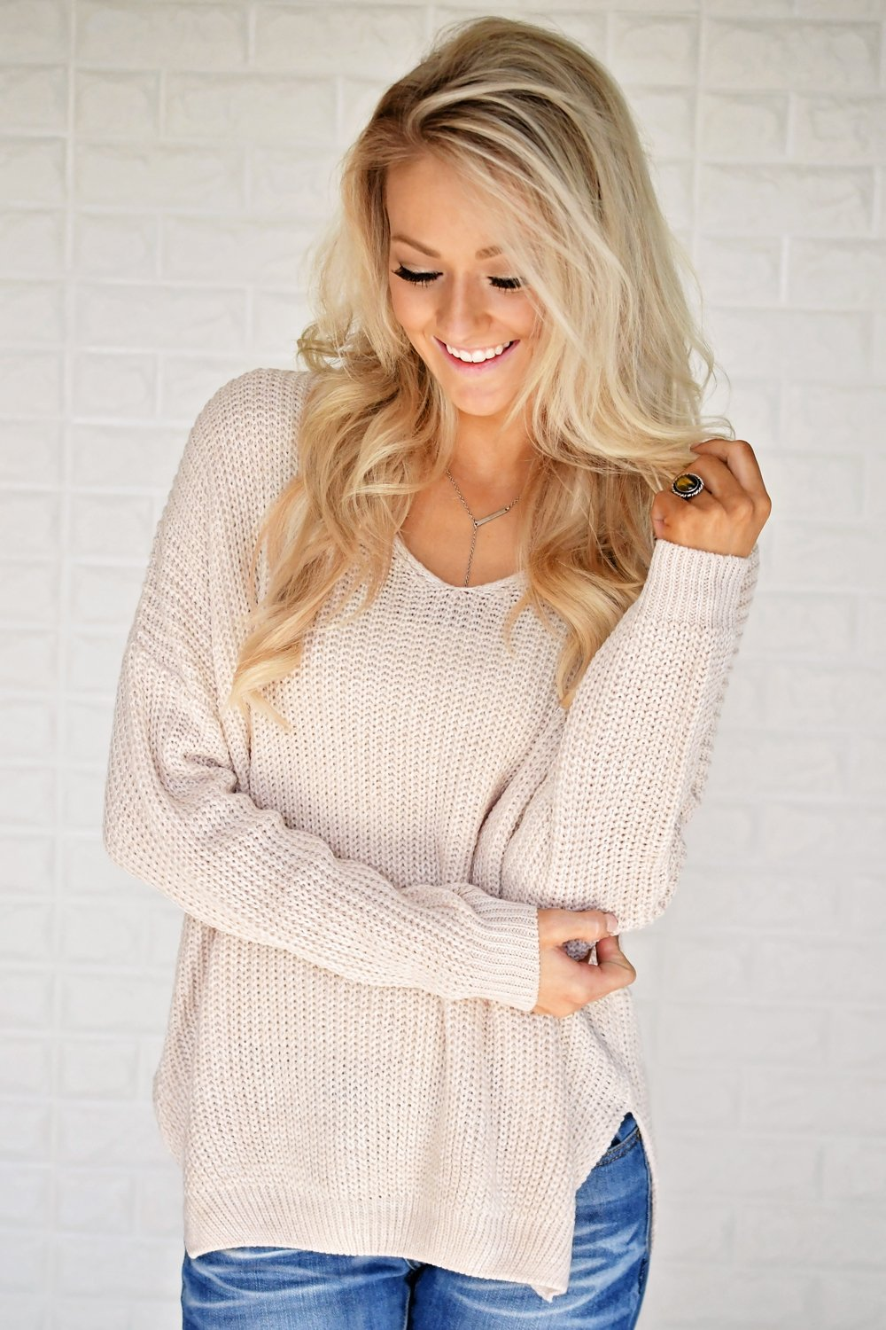Knit Blush Sweater