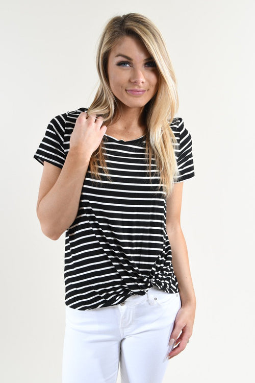 Classic Striped Knot Top