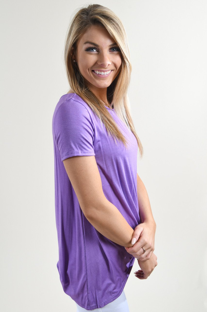 Solid Purple Knot Top