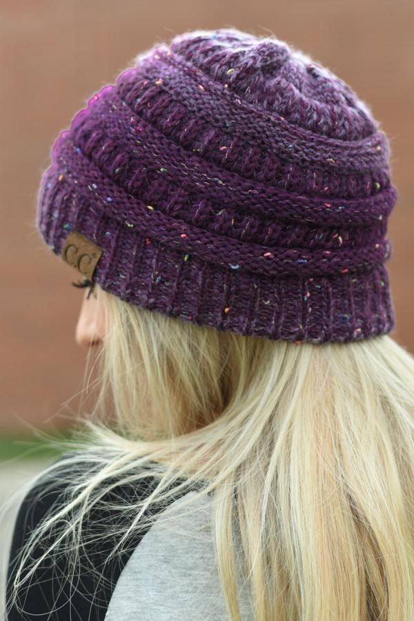CC Beanie - Purple Speckle
