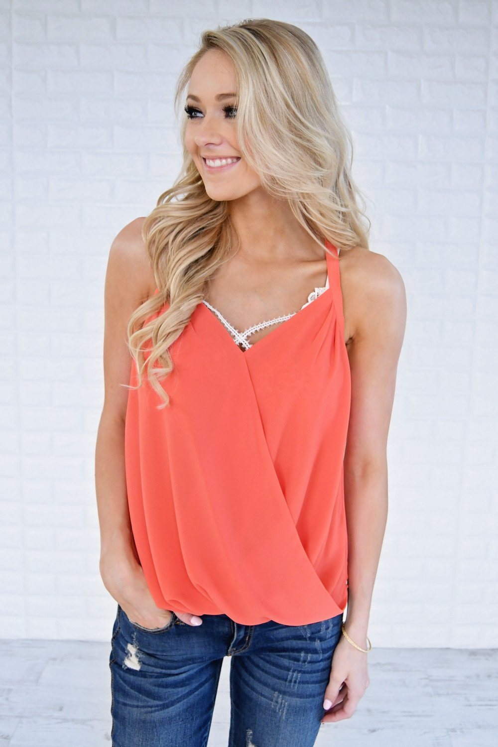 Lucky Tank Top ~ Dark Salmon