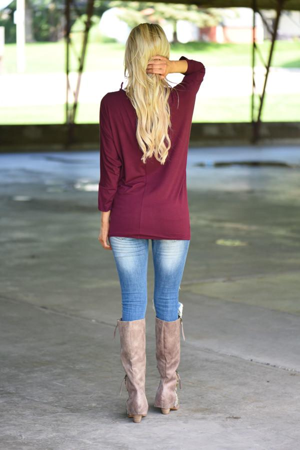 Essential Wine Dolman Top