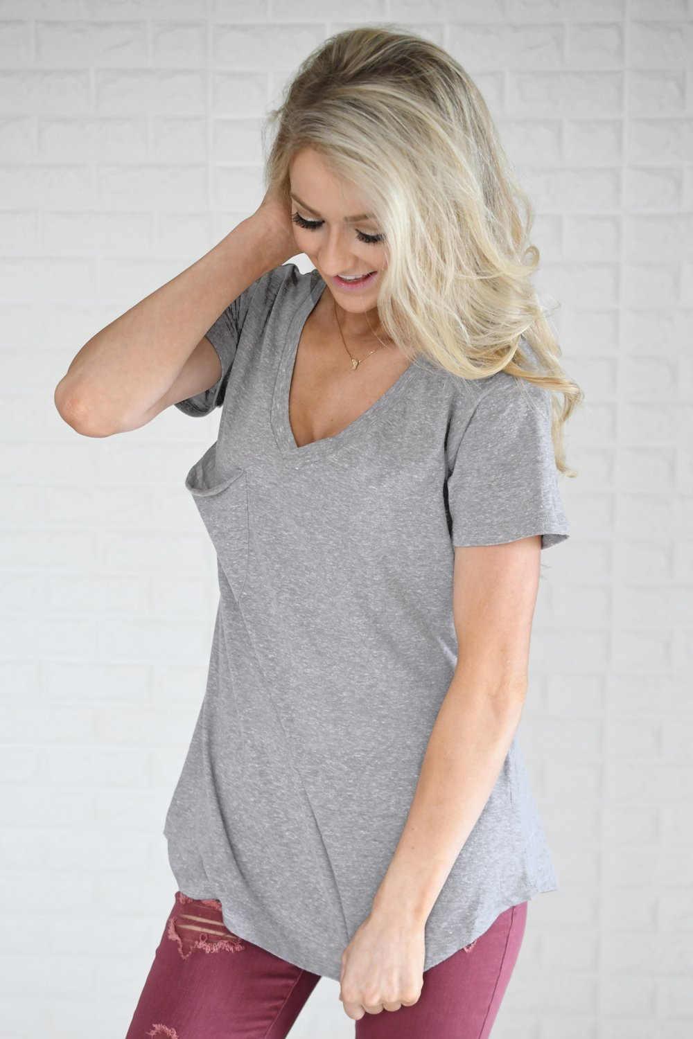 Basic Grey Pocket Tee