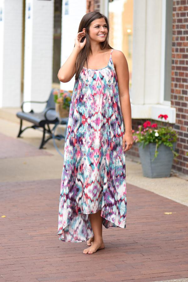 Collage of Color Maxi Dress ~ One Size