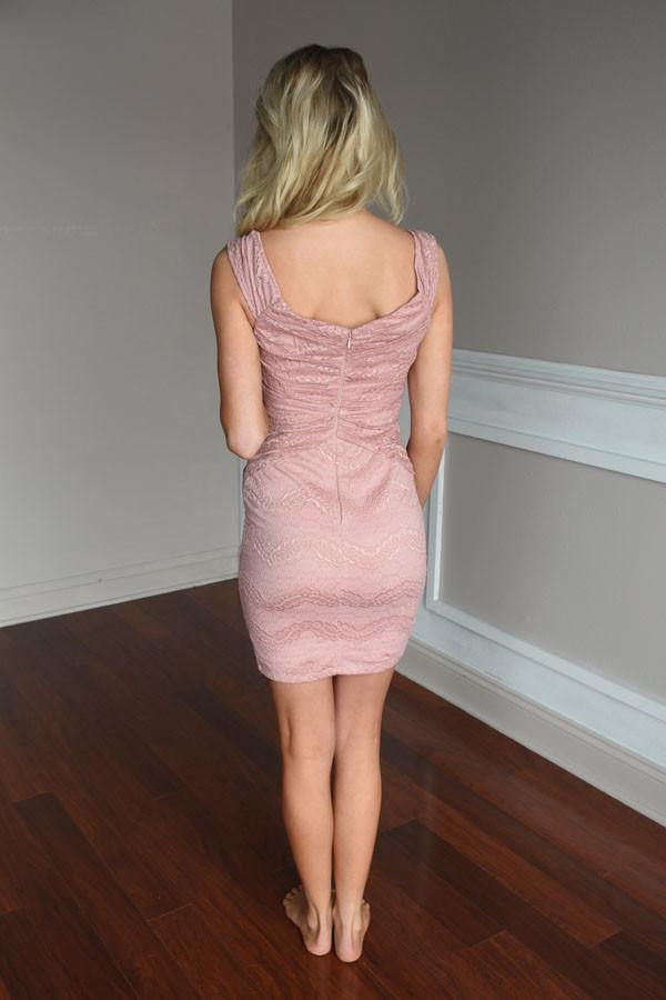 Accidentally in Love Dress ~ Dusty Pink