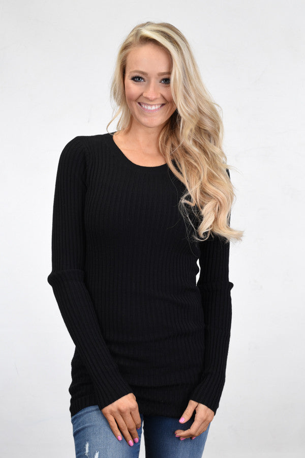 Essential Black Knit Top